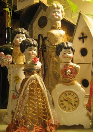 Group of china dolls
