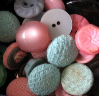 Pink and blue buttons