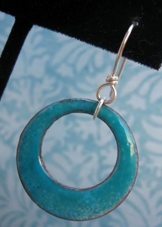 Hoop earring closeup