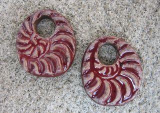 Burgandy ammonites