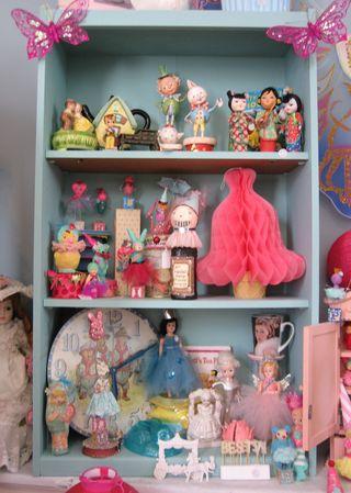 Aqua doll cabinet