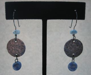 Blue drops with sterling pair