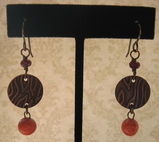 Orange drops with copper pair