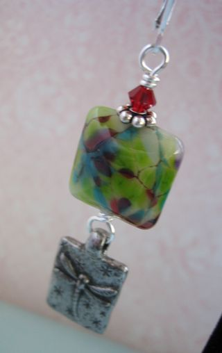 Lampwork and green girl left