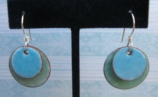 Candy enamel earrings