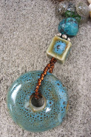 Finished necklace pendant