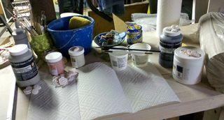 Ceramic bead table