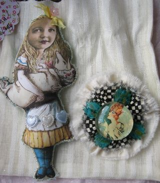 Alice and brooch