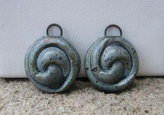 Swirl drop charms