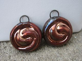 Copper swirl pair close up
