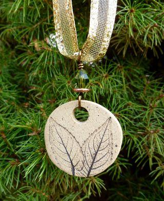 Ornament in tree half