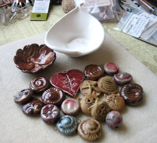 Beads and mini pottery