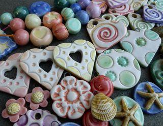 Glazed beads 1