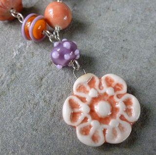 Pendant and lampwork bead