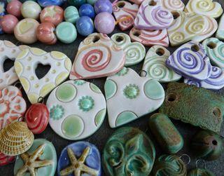 Glazed beads 2