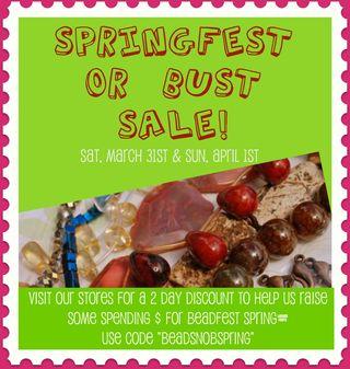 Springfest 2012 sale