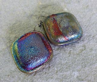 Flashy square charm pair 2