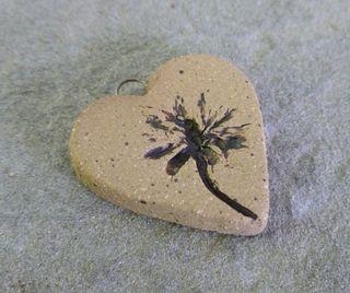Sm dandelion heart charm 2