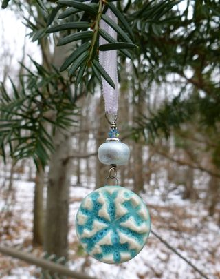 Snowflake ornament hanging
