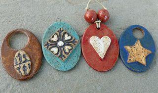 Stoneware pendants