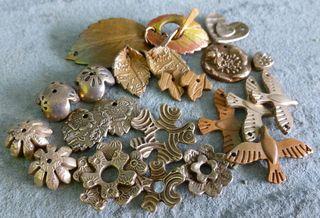 Bronze clay pieces