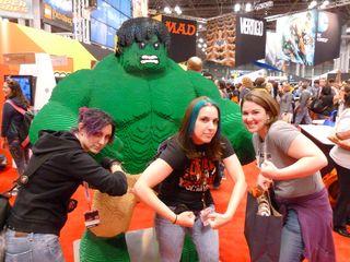 Girl hulk smash!
