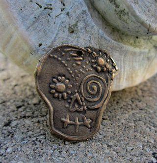 Bronze sugar skull