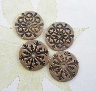 Bronze snowflakes