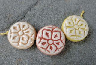Citrus hibiscus bead trio 1