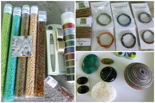 Seed beads WW cabochon collage