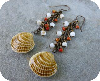 Seashell earrings 2