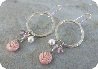 Pink Rose Hoops 2