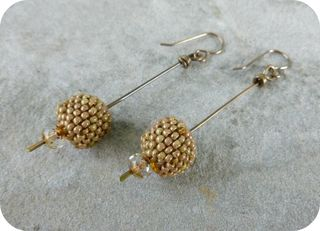 Beaded Bead Stick Earrings 2
