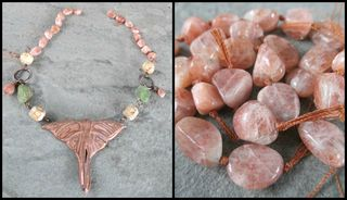 Sunstone Necklace Collage