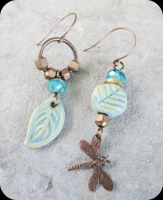 Mismatched Leaf earrings
