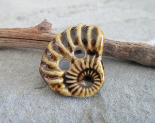 Ammonite button 1