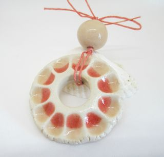 Peach Flower Pendant and Bead 2