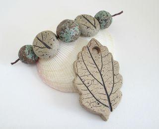 Stoneware Leaf Set 1