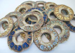 Rustic coin pendants pile