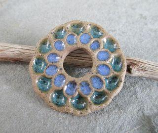 Glossy Blue Flower Pendant 1