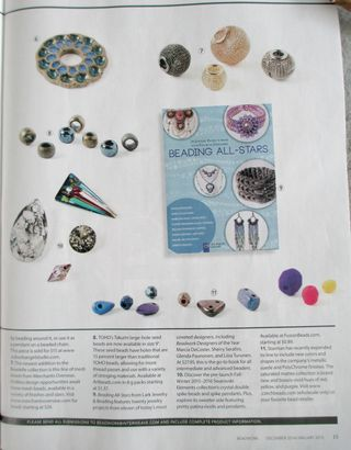 Beadwork Magazine Dec 2015 issue