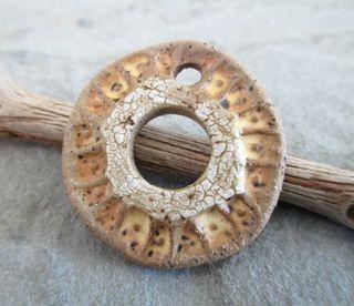 Almond Coin Pendant 1